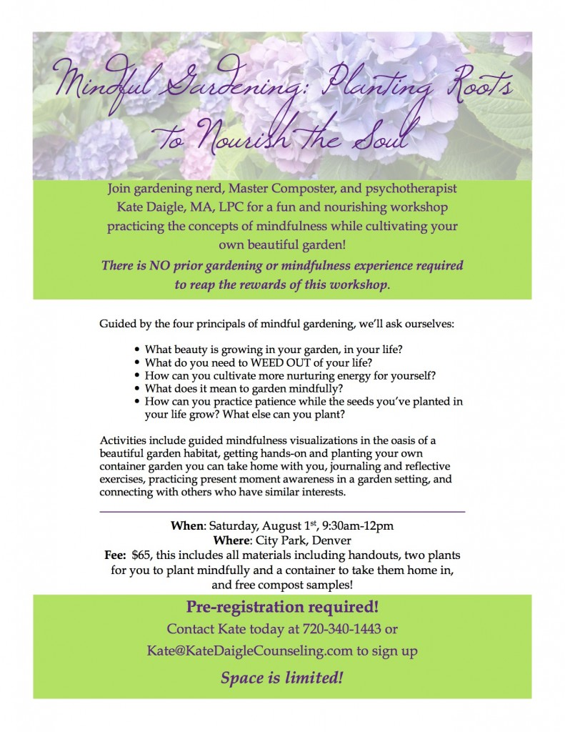 Mindful Gardening Flyer 2015